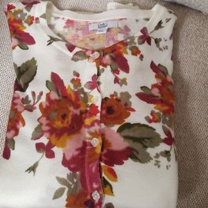 Croft & Barrow floral sweater